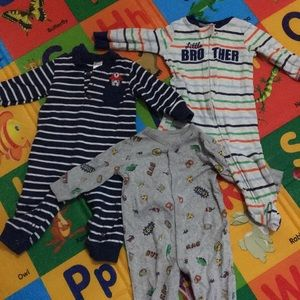 Baby onesie and footsies 3 for 1